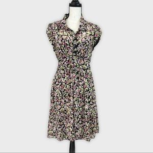 Miss Bisou Sheer Floral Short Sleeve Dress Size 11
